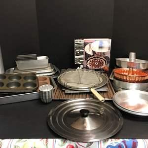 Lot # 68 - Lot of Baking Sheets & Racks, Roasting Pan & More
