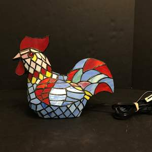 Lot # 78 - Tiffany Style Rooster Lamp