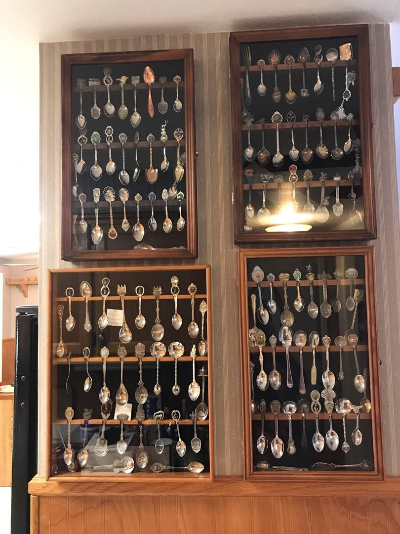 Lot # 137 - Collection of Small State Spoons & Display Cases (2 Spoons Are Sterling) (main image)