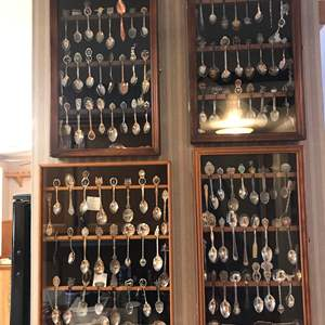 Lot # 137 - Collection of Small State Spoons & Display Cases (2 Spoons Are Sterling)