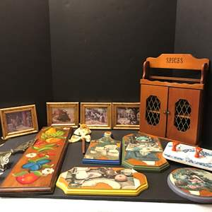 Lot # 142 - Lot of Wall Decor & Spice Rack