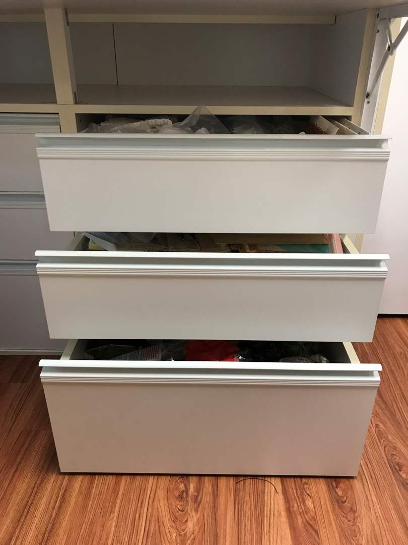 Lot # 153 - 3 Drawers Full of Finishing's, Faux Flowers, Tracing Paper & More  (main image)