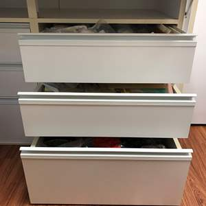 Lot # 153 - 3 Drawers Full of Finishing's, Faux Flowers, Tracing Paper & More