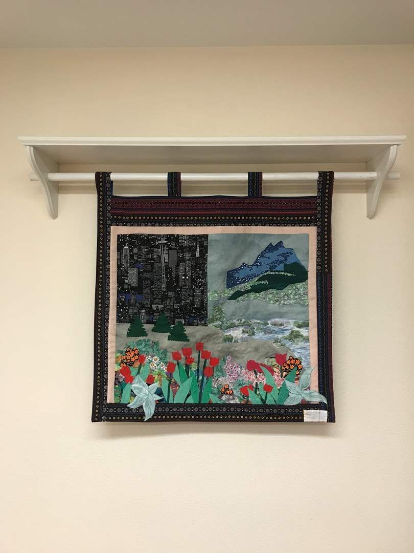 Lot # 209 - Beautiful Seattle Hand Quilted Tapestry  (main image)