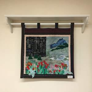 Lot # 209 - Beautiful Seattle Hand Quilted Tapestry