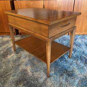 """Lot # 8 - Mid-Century """"Forward '70 by Broyhill Premier"""" Side Table w/ Dovetail Drawers"""