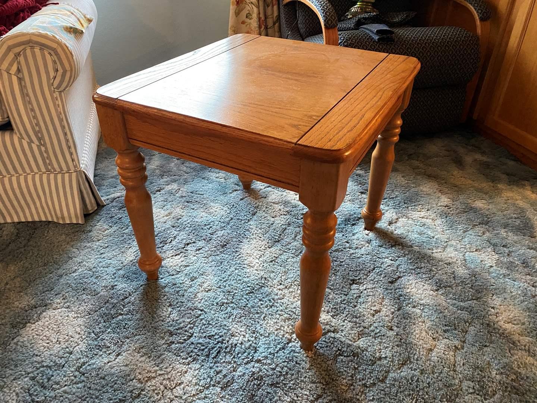 Lot # 11 - Wood Side Table  (main image)