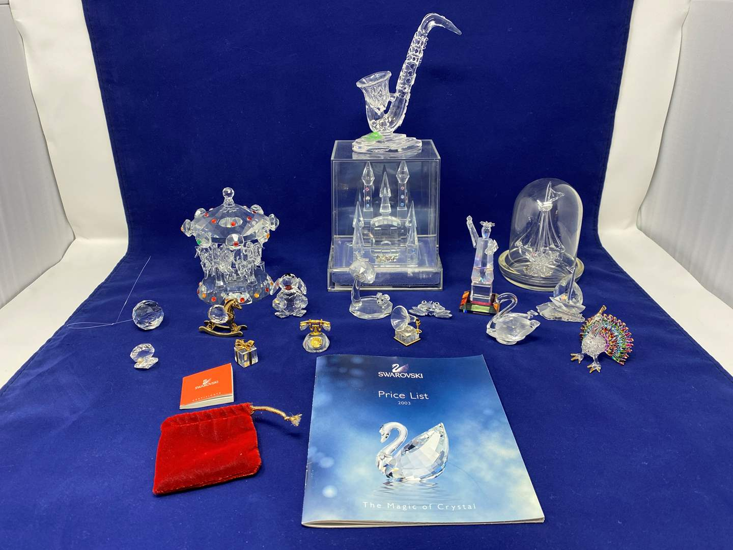 Lot # 34 - Swarovski Crystal Items, Shannon Crystal Carousel, Cinderella Crystal Castle & Other Misc. Glass & Crystal Items  (main image)
