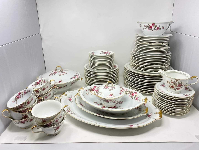 """Lot # 35 - Beautiful 90 pc. Set of Meito China """"Blossom"""" Pattern (main image)"""