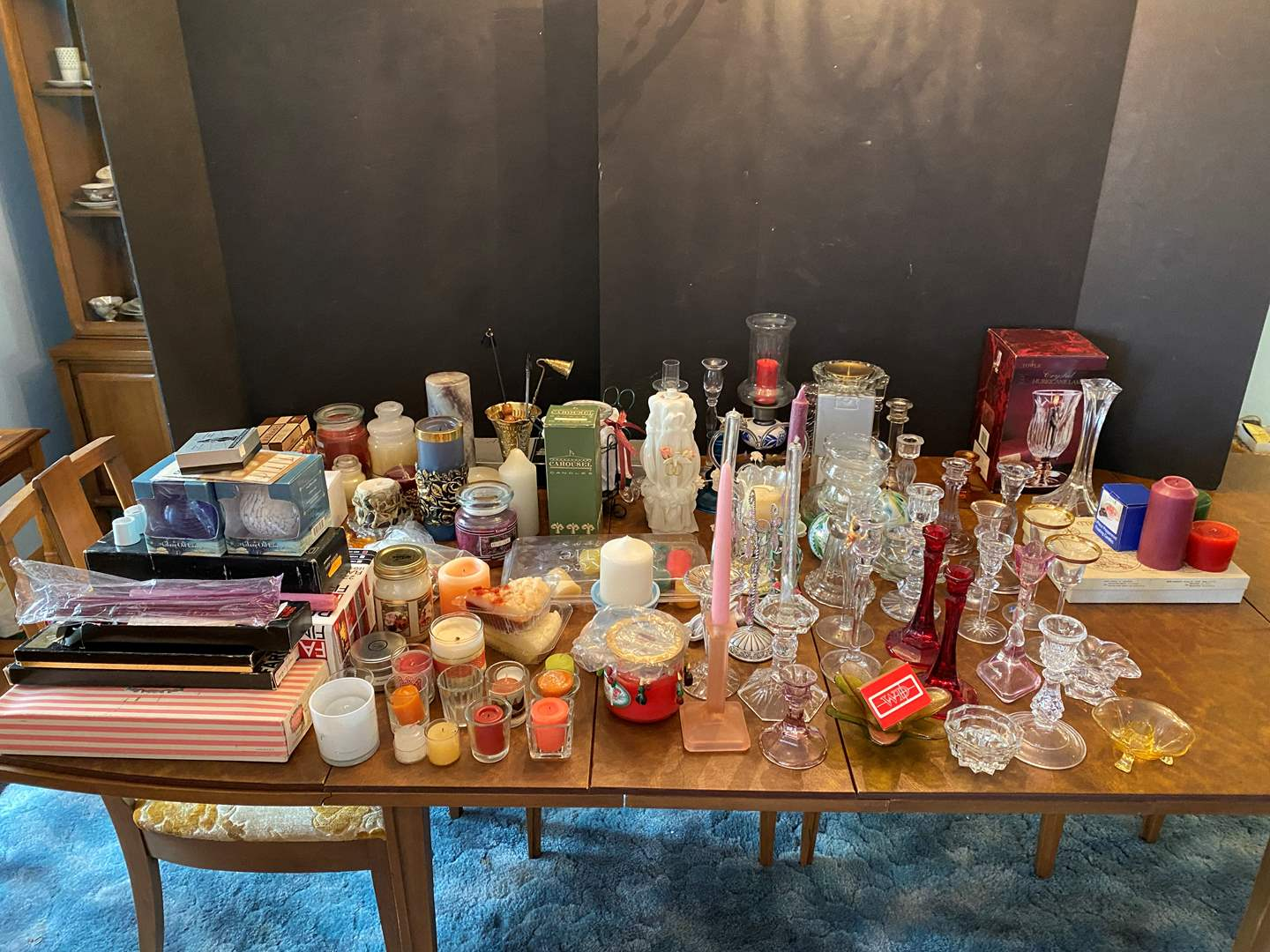Lot # 36 - Huge Selection of Candle Holders & Candles - (See Photos - Bring Boxes) (main image)