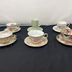 Lot # 38 - Six Teacups & Saucers - (See Photos)