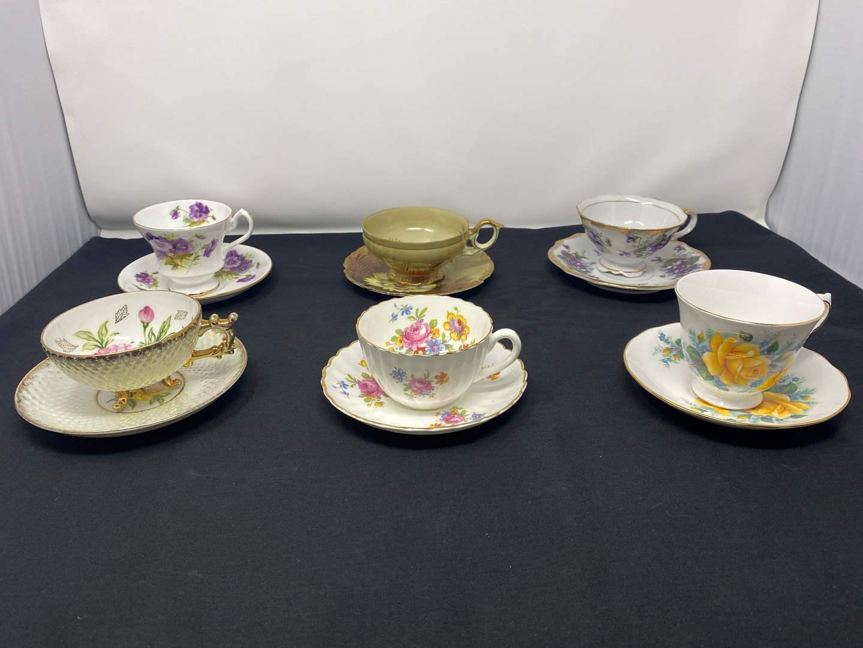 Lot # 39 - Six Teacups & Saucers - (See Photos) (main image)