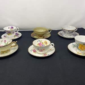 Lot # 39 - Six Teacups & Saucers - (See Photos)