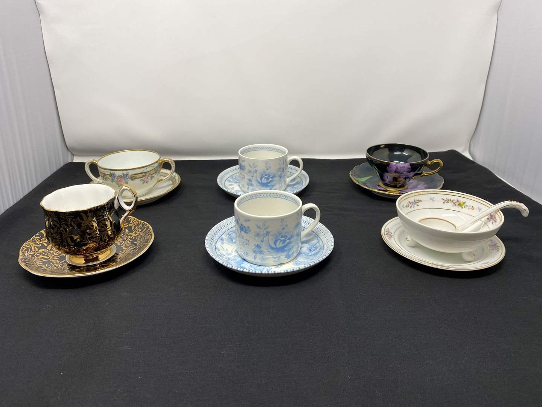 Lot # 41 - Six Teacups & Saucers - (See Photos) (main image)