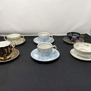 Lot # 41 - Six Teacups & Saucers - (See Photos)