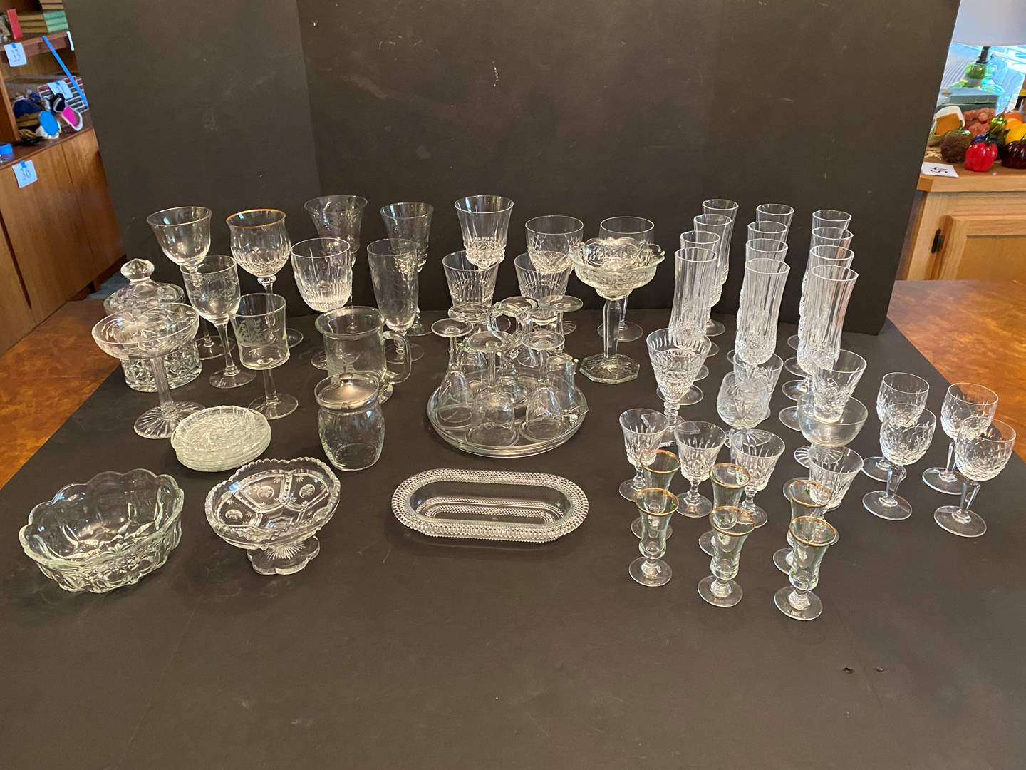Lot # 45 - Great Selection of Crystal Stemware & Dishes (main image)