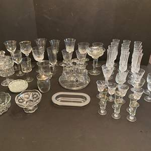 Lot # 45 - Great Selection of Crystal Stemware & Dishes