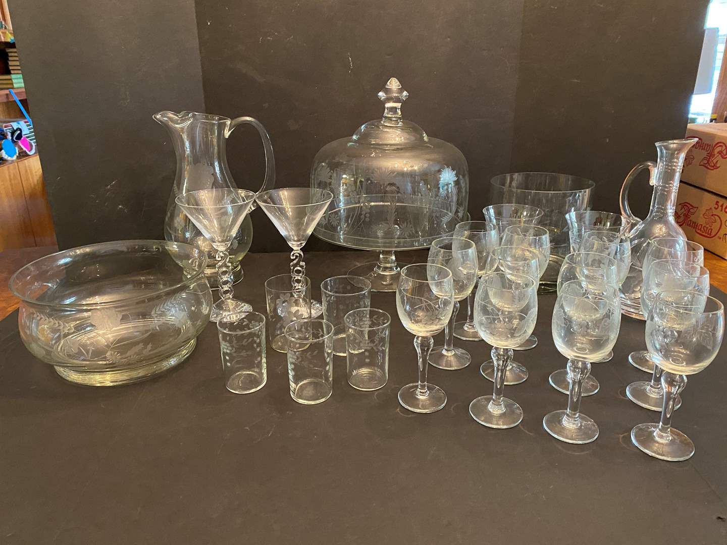 Lot # 46 - Princess House & Other Nice Etched Crystal Items (main image)
