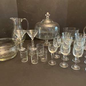 Lot # 46 - Princess House & Other Nice Etched Crystal Items