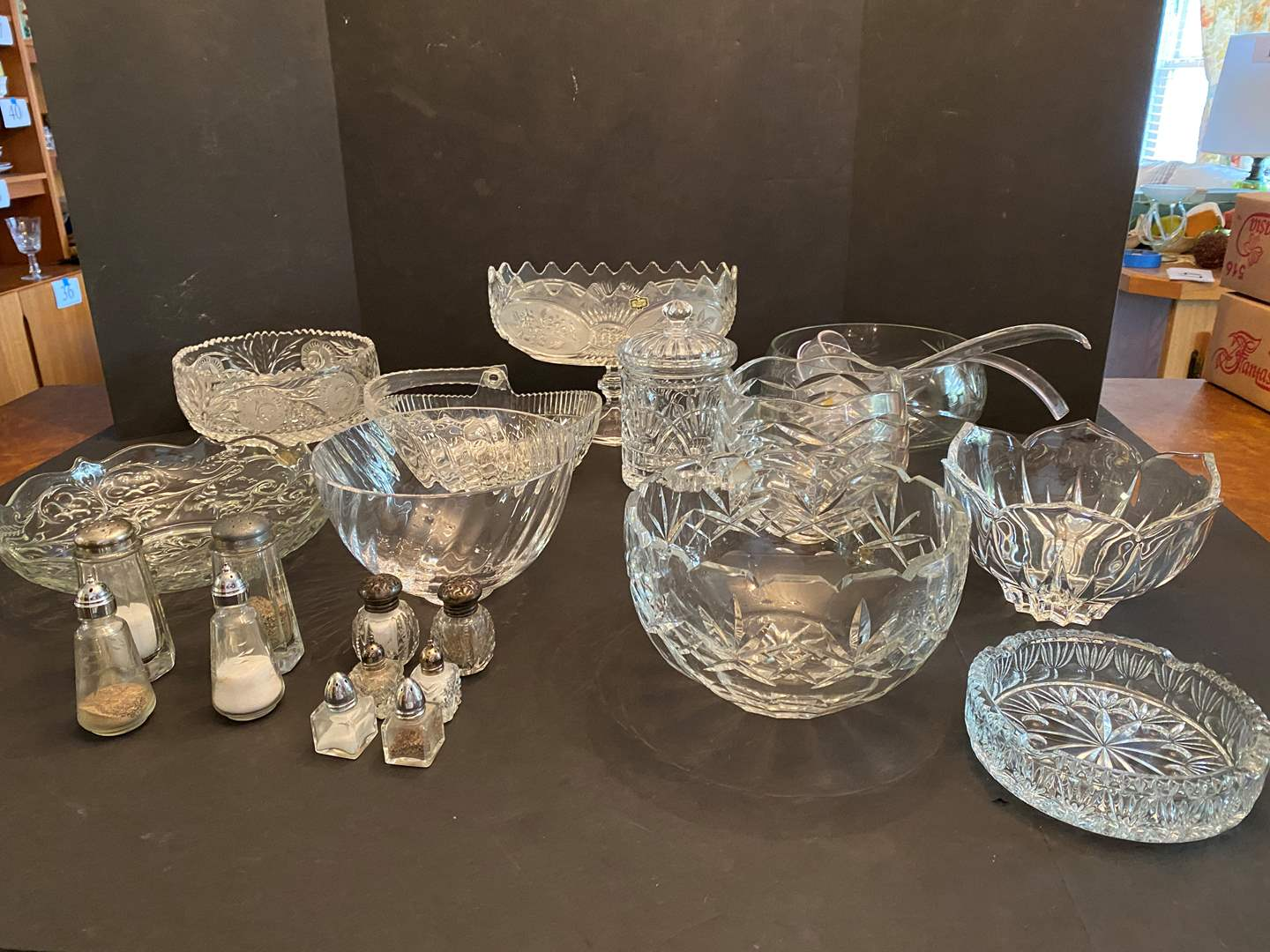 Lot # 47 - Tiffany & Co. Crystal Bowl & Other Nice Heavy Crystal Dishes (main image)