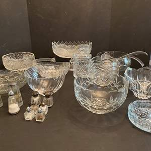 Lot # 47 - Tiffany & Co. Crystal Bowl & Other Nice Heavy Crystal Dishes