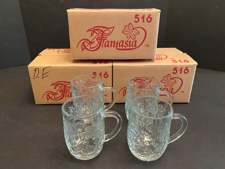 "Lot # 48 - Three New Cases of Princess House ""Fantasia 516"" Mugs - (12 Mugs Total) (main image)"