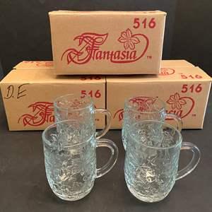 "Lot # 48 - Three New Cases of Princess House ""Fantasia 516"" Mugs - (12 Mugs Total)"