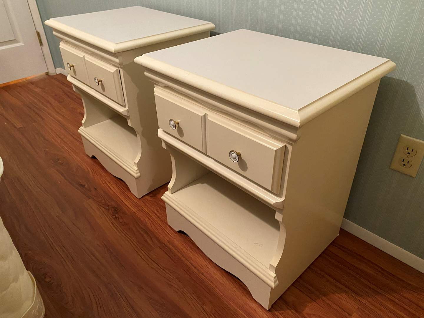 Lot # 111 - Two White Nightstands (main image)
