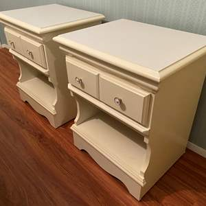 Lot # 111 - Two White Nightstands