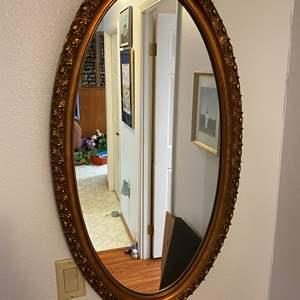 Lot # 117 - Vintage Gold Toned Wood Framed Mirror