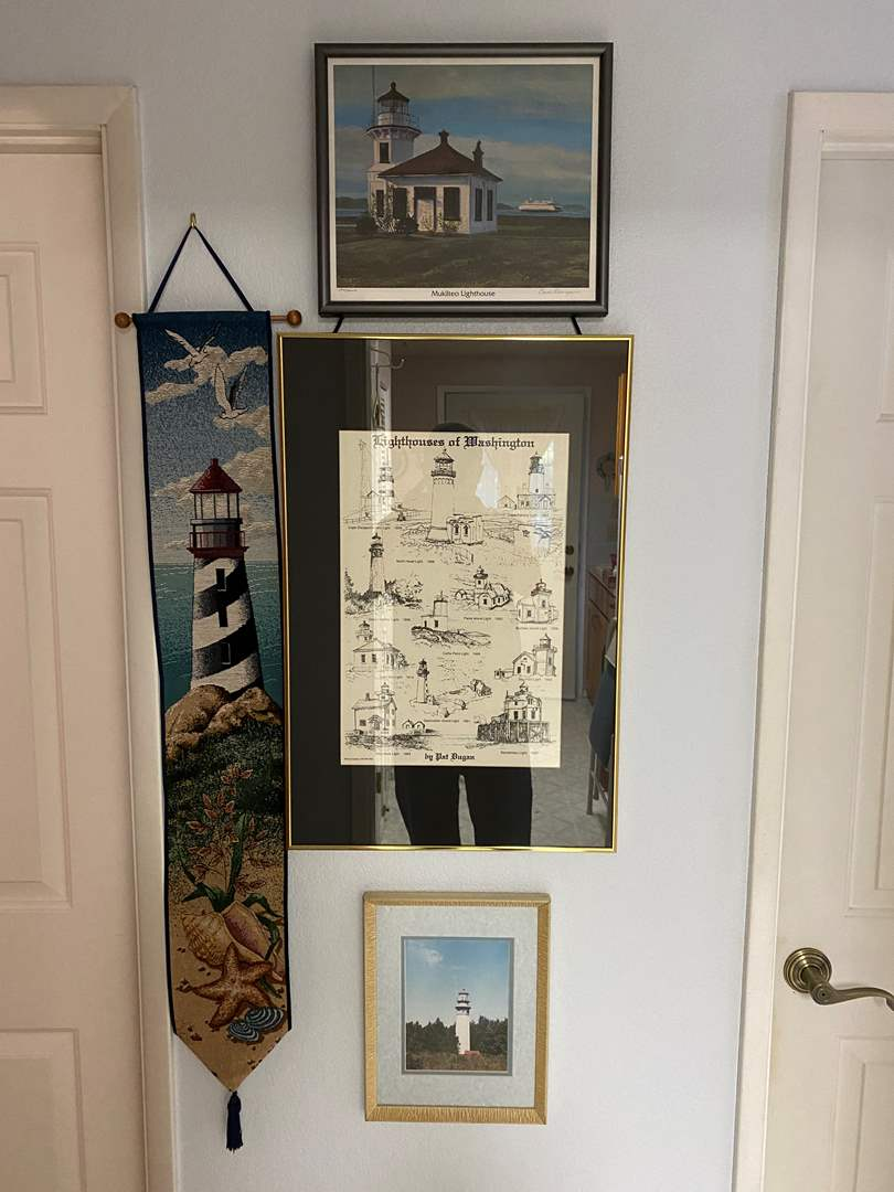 Lot # 118 - Lighthouse Artwork: Signed & Numbered Print by Carol Thompson, North End Lighthouse Photo, & More (main image)