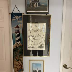 Lot # 118 - Lighthouse Artwork: Signed & Numbered Print by Carol Thompson, North End Lighthouse Photo, & More