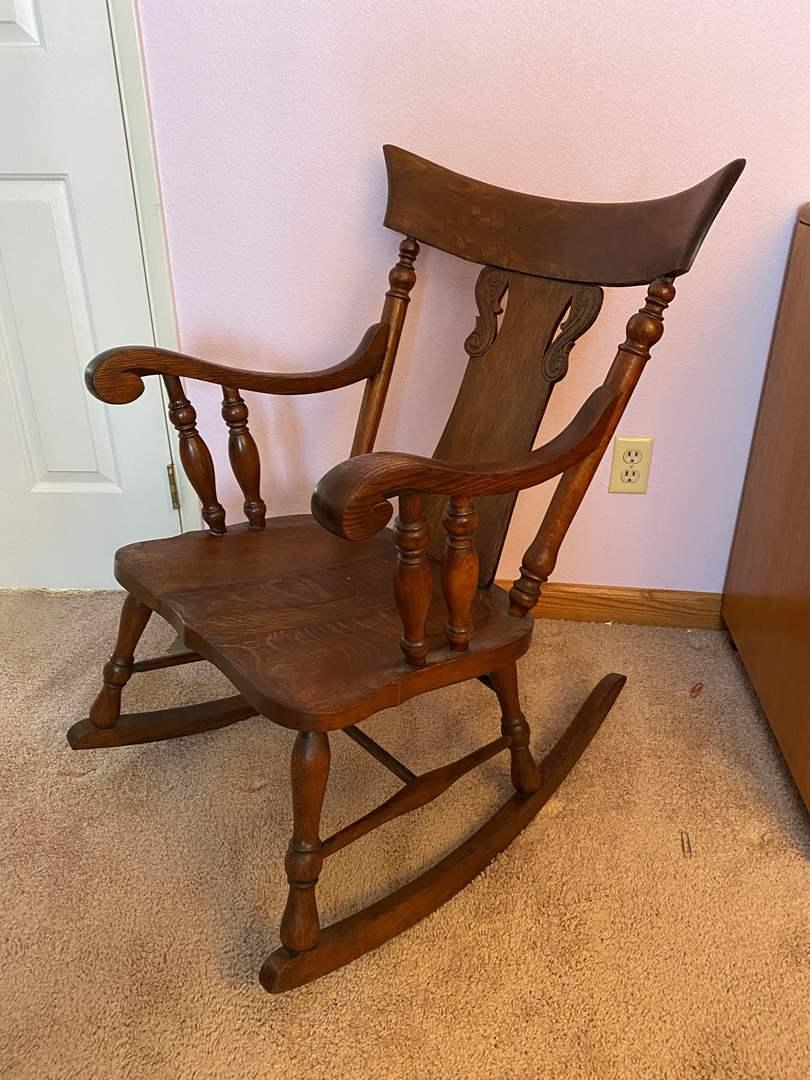 Lot # 128 - Antique Rocking Chair  (main image)
