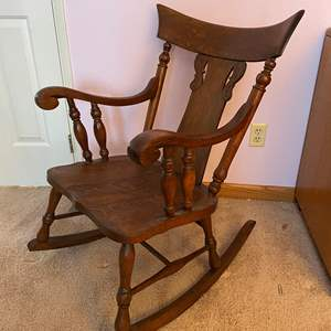 Lot # 128 - Antique Rocking Chair