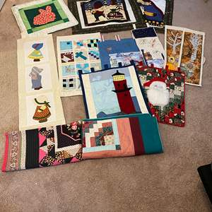 Lot # 174 - Handmade Double Sided Quilted Holiday Wall Tapestries
