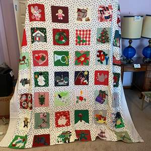 Lot # 176 - Awesome Handmade Holiday Quilt