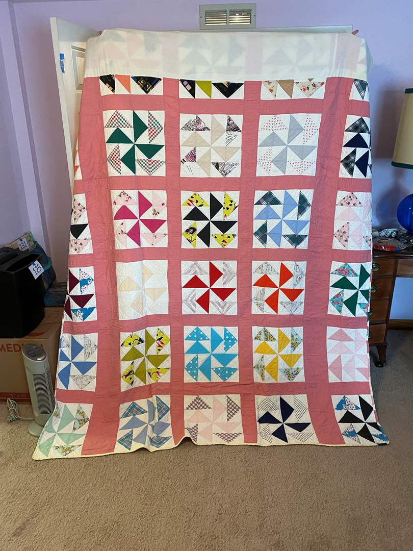 Lot # 177 - Vintage Handmade Quilt Made in 1961 (main image)