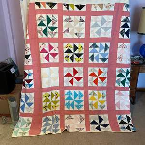 Lot # 177 - Vintage Handmade Quilt Made in 1961