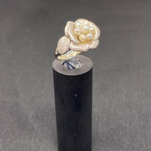 Lot # 197 - 10k White Gold Ring - (Stamped & Tested - 5.52 grams)