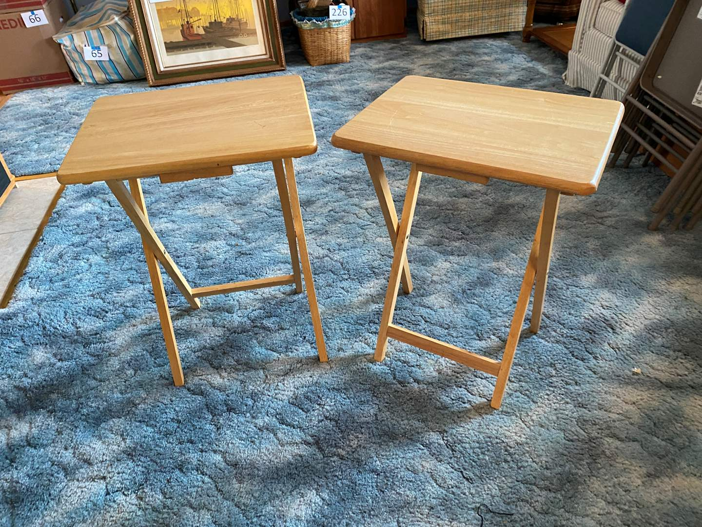 Lot # 227 - Two Folding Wood TV Trays (main image)
