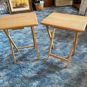 Lot # 227 - Two Folding Wood TV Trays