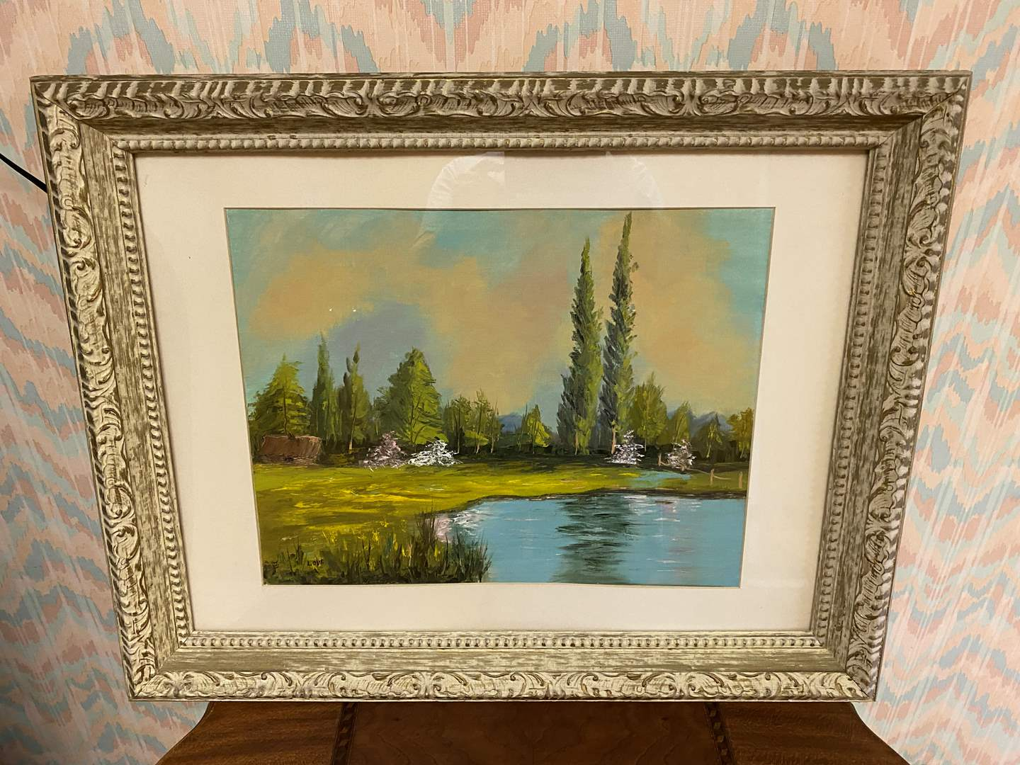 """Lot # 238 - Beautifully Framed Original Oil on Canvas by Donna Love """"A Summer Place"""" (main image)"""