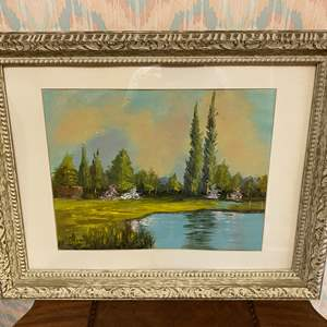 """Lot # 238 - Beautifully Framed Original Oil on Canvas by Donna Love """"A Summer Place"""""""