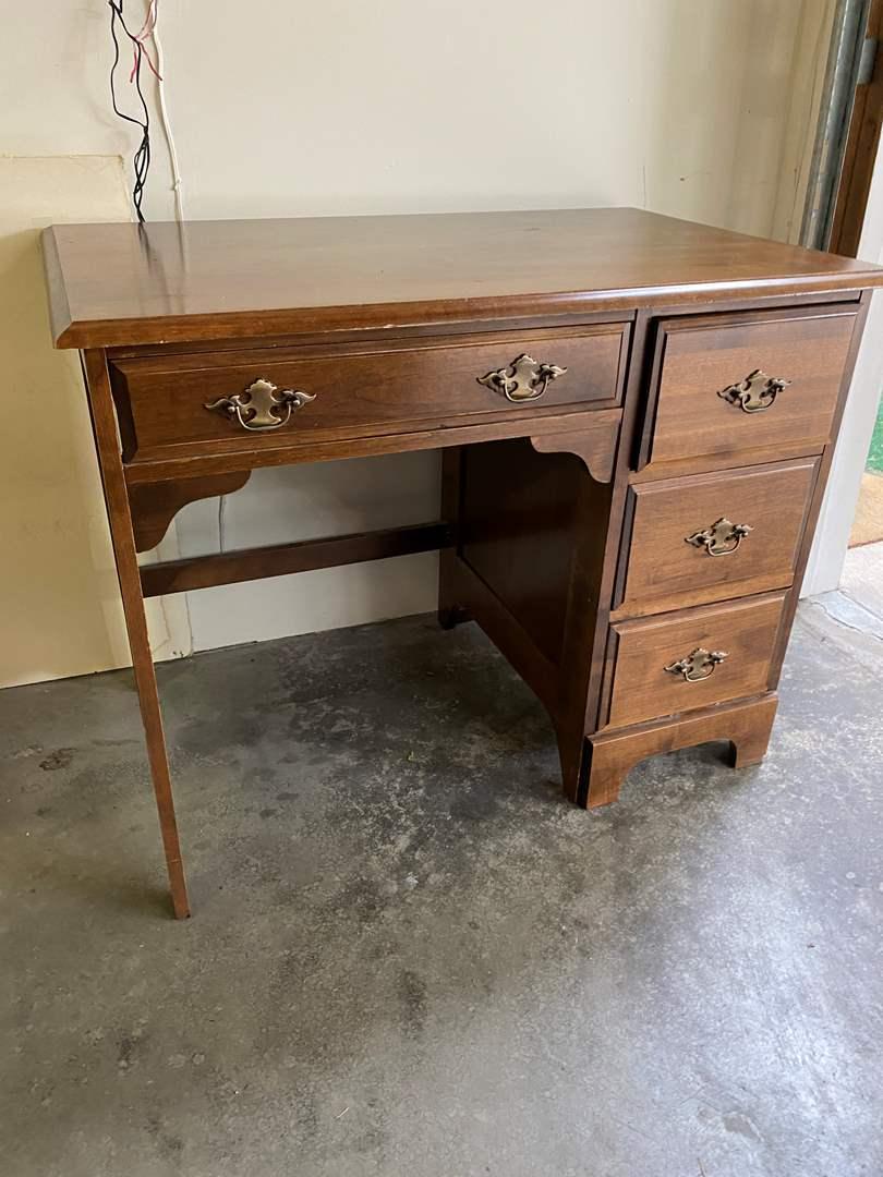 Lot # 252 - Vintage Wood Desk (main image)