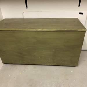 Lot # 255 - Large Cedar Storage Chest on Wheels