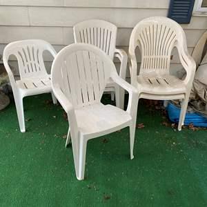 Lot # 261 - Six Plastic Patio Chairs
