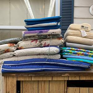 Lot # 262 - Stack of Patio Chair Cushions