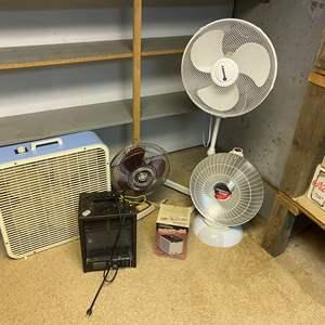 Lot # 281 - Presto Heat Dish, Box Fan, Oscillating Fans & More