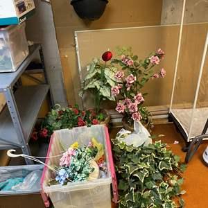 Lot # 282 - Misc. Selection of Faux Plants & Flowers