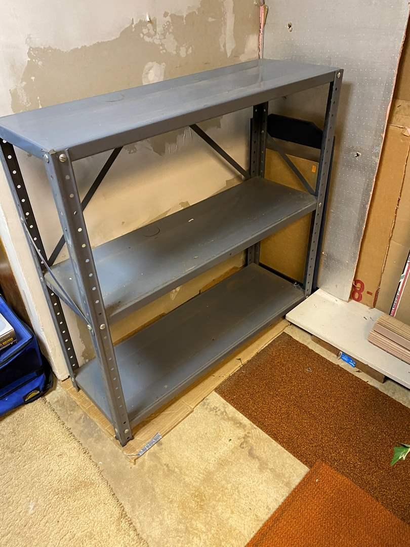 Lot # 283 - Small Metal Storage Shelf (main image)